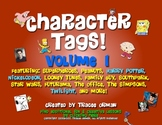 "Character ""Tags"" Lit/Novel Activity: Family Guy, Twilight,"