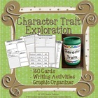 Character Trait Exploration: Cards, Graphic Organizer, Wri