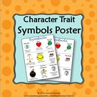 Character Trait Symbols Poster with intro lesson