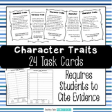 Character Traits:  24 Task Cards