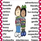 Character Traits Information Graphic Organizer and Anchor Chart