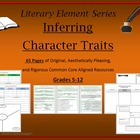 Character Traits Unit Resources Inferring Analyzing Evalua