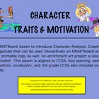 Character Traits and Motivation SMARTBoard file with Graph