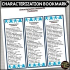 Characterization - Literary Element Bookmark