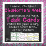 Charlotte's Web Comprehension and Analysis Task Cards - CC