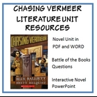 Chasing Vermeer, by B. Balliett, Entire Unit of Resources on CD!