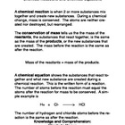 Chemical Reactions and Equations Common Core Reading and W