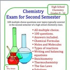 Chemistry Exam for Second Semester