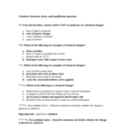 Chemistry Test Bank on Reaction Rates and Equilibrium