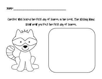 the kissing hand worksheets delibertad