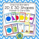 Chevron 2D and 3D Shapes Poster Set (Simple)