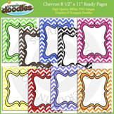 Chevron 8 1/2 x 11 Ready Pages / Cover Pages