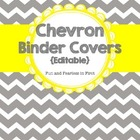 Chevron Binder Covers & Spines {Editable}