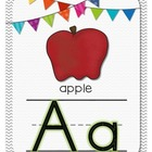 Chevron & Bright Bunting Alphabet