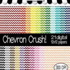 Chevron CRUSH! 21 Digital Papers For Personal and Commercial Use