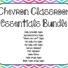 Chevron Classroom Essentials Bundle PREVIEW FILE