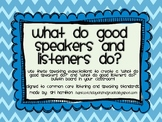 Chevron Common Core Speaking and Listening Expectations Bu