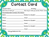 Chevron Contact Card (Full Page)