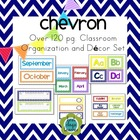 Chevron EDITABLE Classroom Organization and Decor Pack