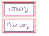 Chevron Inspired Months of the Year