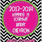 2013-2014 Chevron Keeping It Together Binder