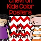 Chevron Kids Color Posters