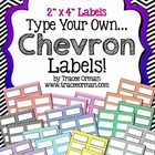 Chevron Labels You Can Customize & Edit {2x4 Avery 5163}