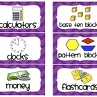Chevron Math Manipulative Labels (Purple)