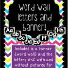 Chevron {Pink, Green, Purple, Yellow} Word Wall Cards and