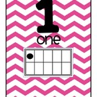 Chevron Ten Frame Number Set