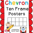 Chevron Ten Frames Posters