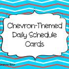 Chevron Themed Daily Schedule Cards