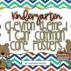"Chevron Themed ""I Can"" Common Core Posters {Kindergarten}"