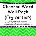 Chevron Word Wall Bundle (Fry version)