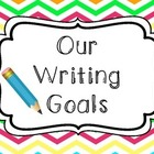 Chevron Writing Goals Clip Chart