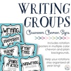 Chevron Writing Groups Signs