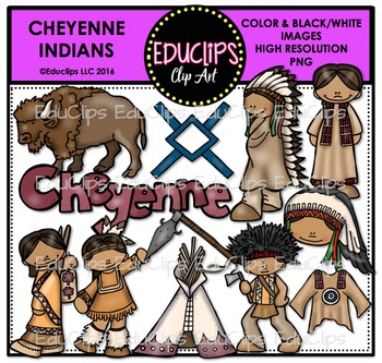 Cheyenne Indians Clip Art Bundle