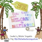 Chicka Boom Bulletin Board set with cute monkey craft