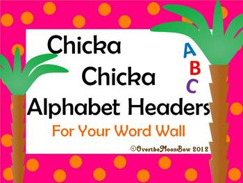 Chicka Chicka Word Wall Alphabet Headers