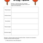 Child Abuse Worksheet & Movie Questions for FCS Child Development