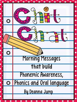 Chit Chat Morning Messages Set 1 {aligned with Common Core Standards}