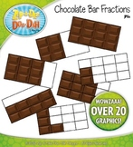 Chocolate Bar Fractions Clipart — Over 20 Graphics!