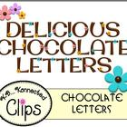 Chocolate Letters with Candy Flowers - Commercial use