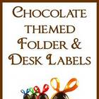 Chocolate Themed Folder Labels, Desk Plates, + Surprise