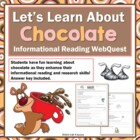Chocolate Web Quest Reading Research Activity