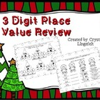 Christmas 3 digit Place Value Review