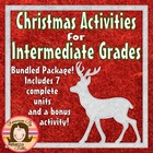 Christmas Activities for Intermediate Grades - Bundled Package