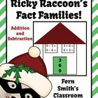 Christmas Addition and Subtraction Fact Families Center an