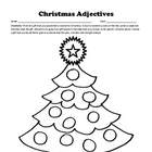 Christmas Adjectives Practice / Writing / Bulletin Board