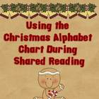 Christmas Alphabet Chart for Shared Reading